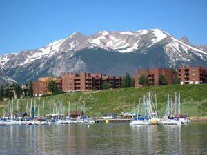 Marina Place Condos Seen From Lake Dillon, Dillon Colorado