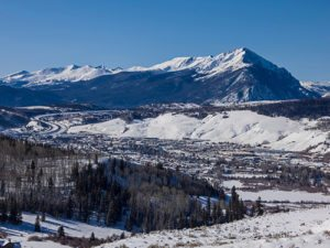 Winter Overview of the Town of Silverthorne