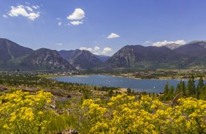 Frisco, Colorado and the Frisco Bay Marina from the Frisco Peninsula