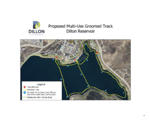Map of multiuse winter track on Lake Dillon